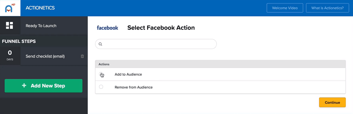 actionectics md fb messenger retargeting clickfunnels