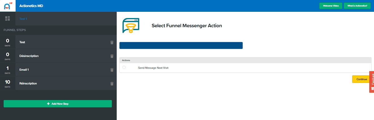 actionectics md funnel messenger set up page clickfunnels