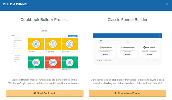Build New Funnel dans Clickfunnels