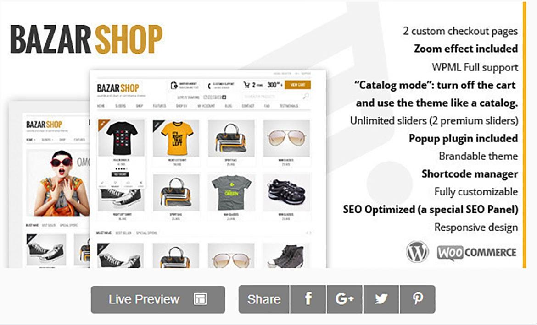 créer site e-commerce avec le thème bazarshop