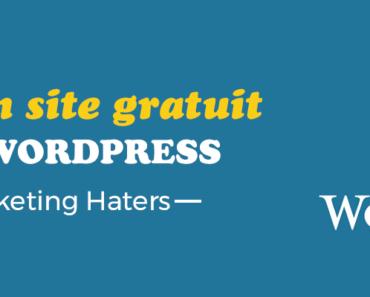 créer un site internet gratuit avec wordpress