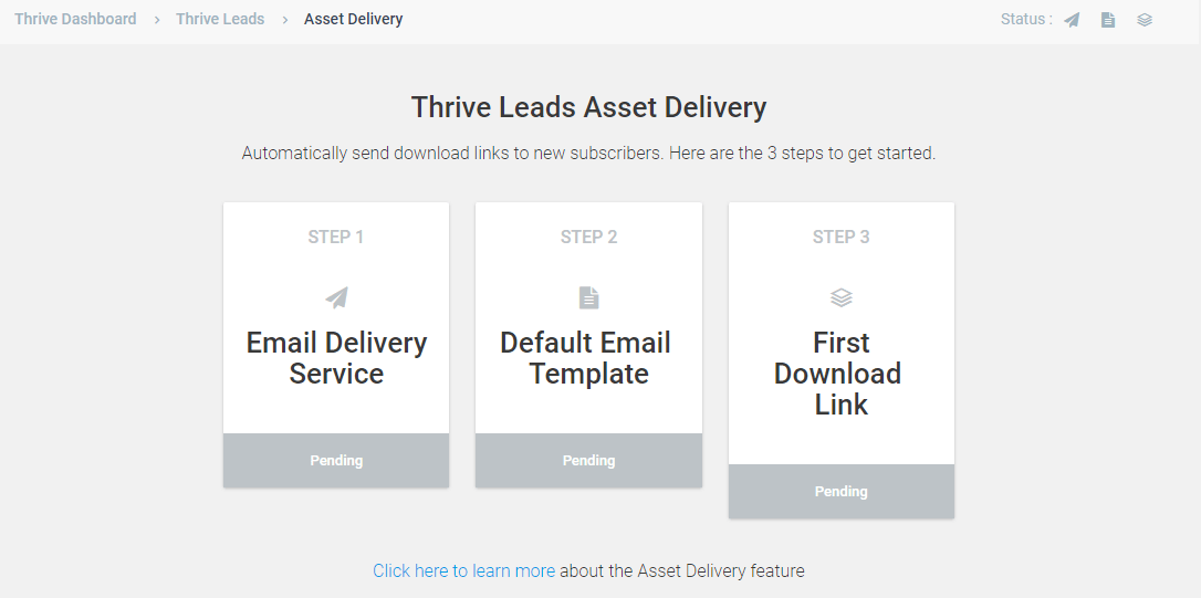 asset delivery thriveleads