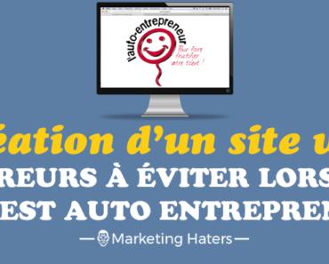 création d'un site internet lorsque l'on est auto entrepreneur