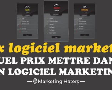 prix tarif logiciel marketing