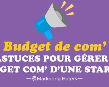 budget de communication d'un startup