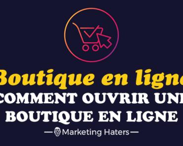 ouvrir une boutique en ligne : création d'une boutique en ligne