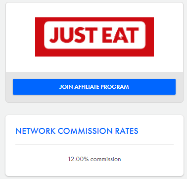 just eat affiliation