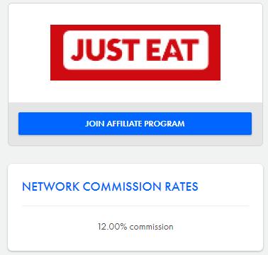 just eat affiliation